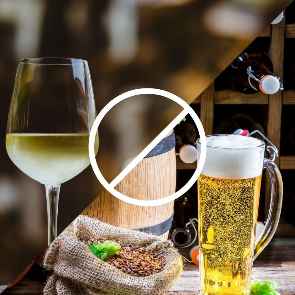 can you drink white wine and light beer if you have psoriasis